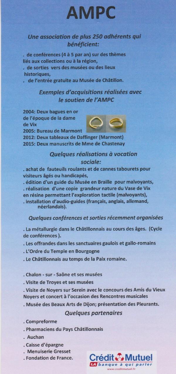 L'Assemblée Générale 2017 des Amis du Musée du Pays Châtillonnais (A.M.P.C.°
