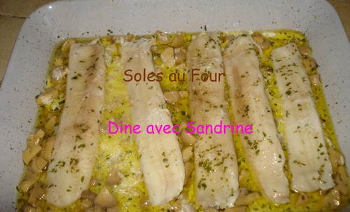 Des Filets de Sole au Four