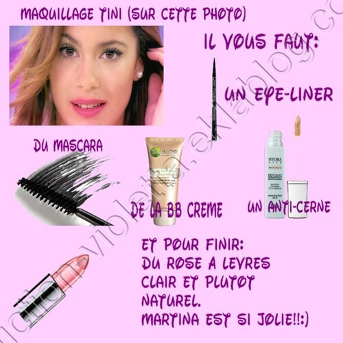 tuto maquillage Tini by Me