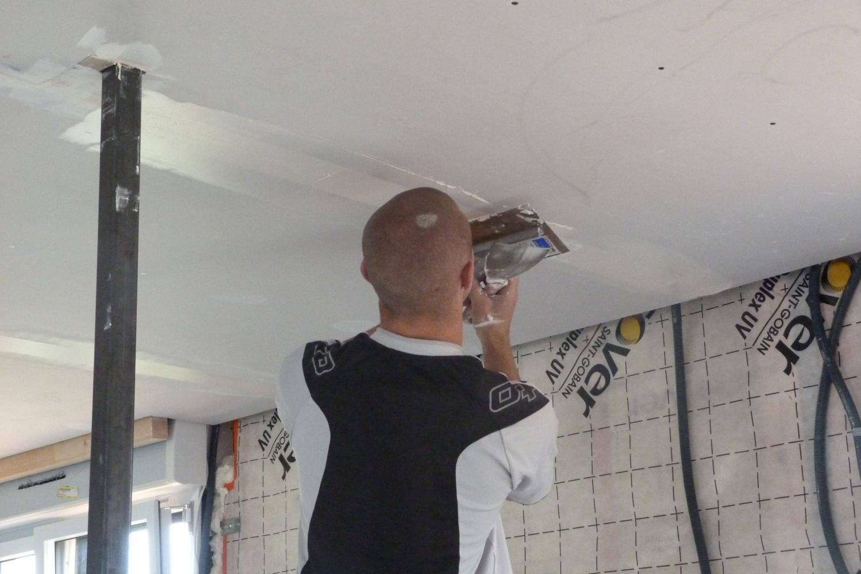 Bu bande de placo du plafond le 06 octobre 2012 maison ossature bois de romy et guillaume - Bande de placo ...