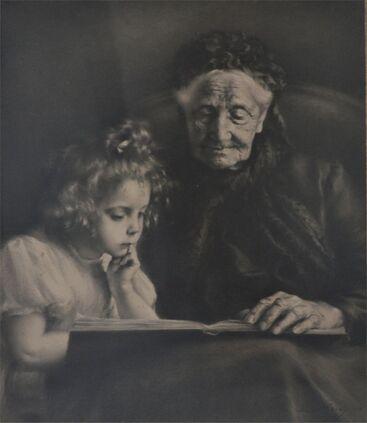 Les femmes  lisant - Dessins et gravures
