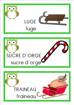 vocabulaire mots  ms Noël