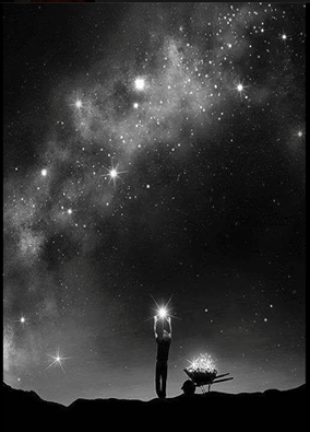 Voici comment les étoiles se forment, avec nos rêves! This is how stars are made of, our dreams!