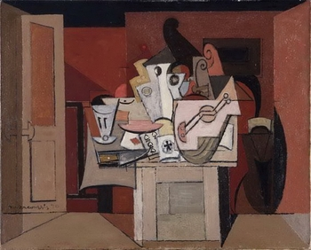 Louis Marcoussis, Nature morte au soleil rouge