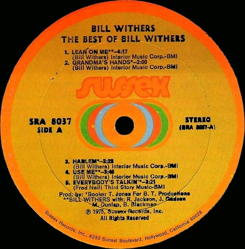 "Bill Withers : Album "" The Best Of Bill Withers "" Sussex Records SRA 8037 [ US ]"