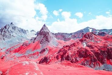 La vallée d'Ailefroide en infrarouge ...