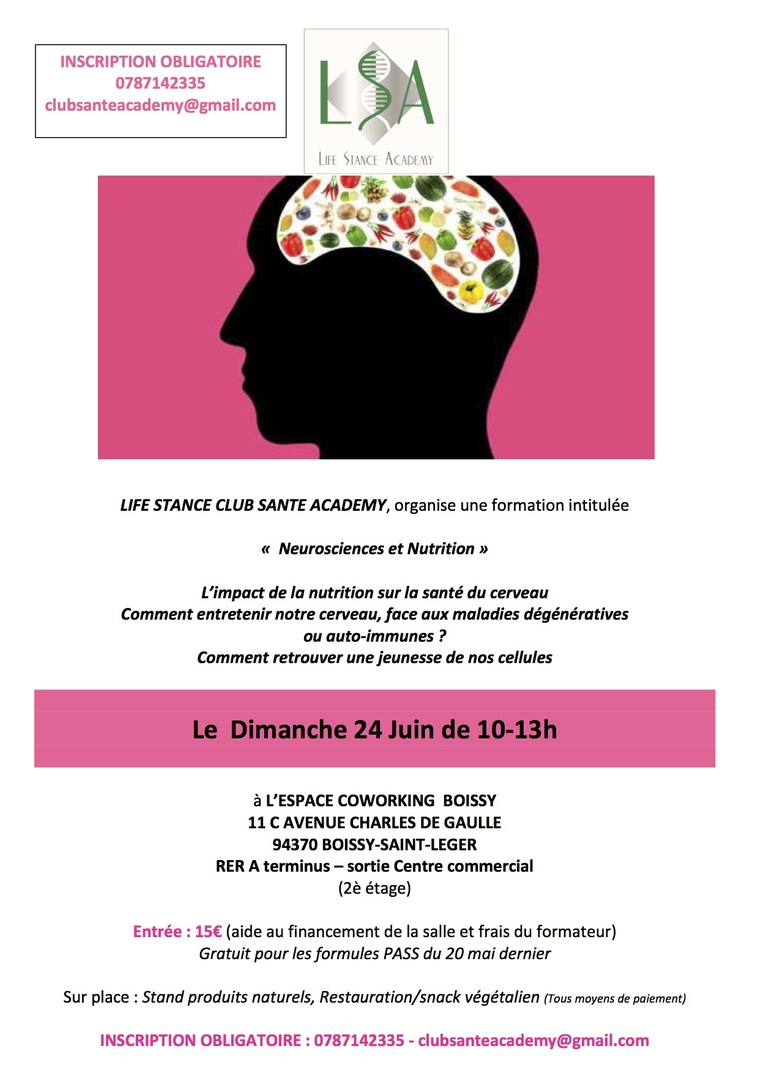 FORMATION NEUROSCIENCES ET NUTRITION