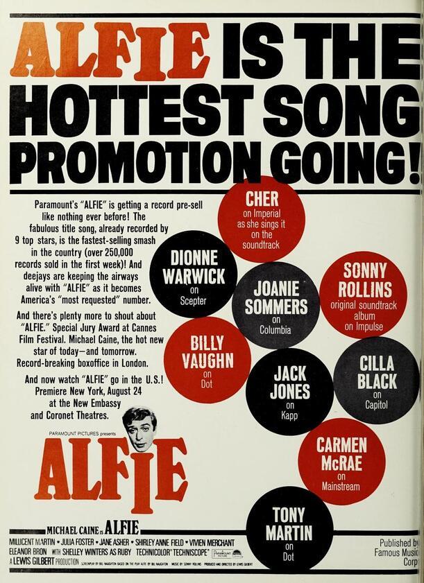 ALFIE BOX OFFICE USA 1966