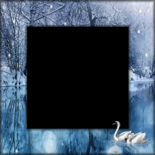 cadre bleu lac