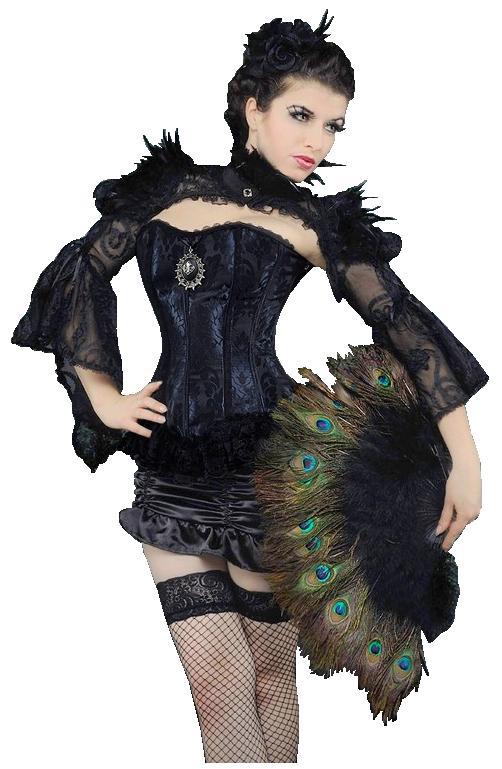 femme corset noir