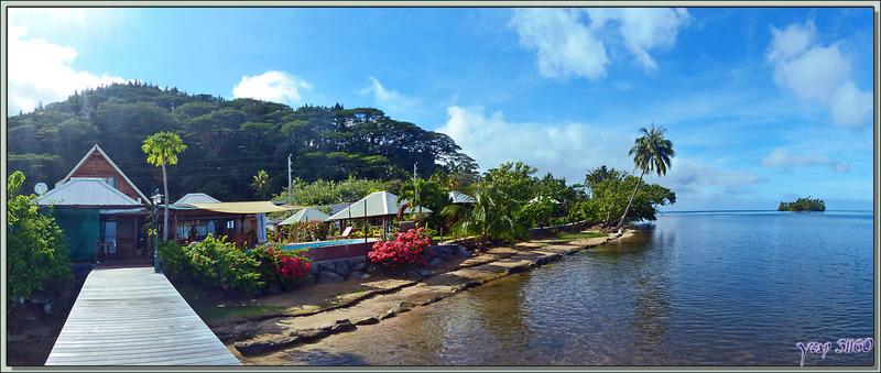 Notre beau petit hôtel familial : Fare Vai Nui - Raiatea - Polynésie française