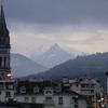 Sommets pyrénéens depuis Lourdes