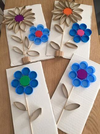 Idée Pinterest : Le printemps et les réalisations artistiques.