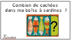 math C1- CP boite à sardines