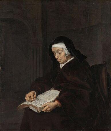 10 - Les vieilles dames lisant- Peintures
