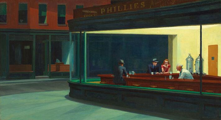Nighthawks (+ Warhol)