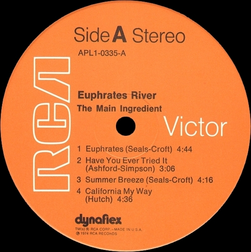 "The Main Ingredient : Album "" Euphrates River "" RCA Victor Records APL1-0335 [ US ]"