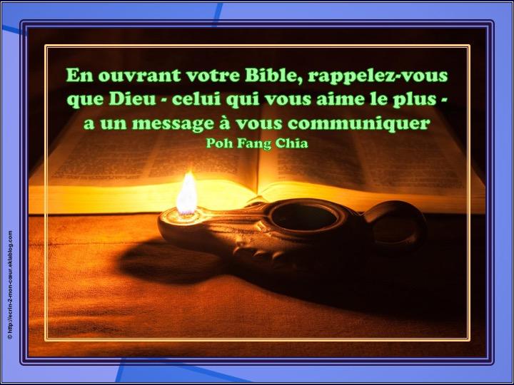 Un message à vous communiquer