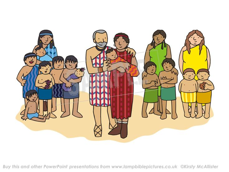 Jacob's family - Joseph is born. From the PowerPoint presentation: Joseph - coat & dreams | Lamp Bible Pictures