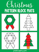 Christmas Pattern Blocks: Free Printables