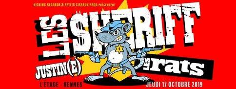 es Sheriff, Les Rats, Justin(e) - En concert à Le Liberté - Rennes (Bretagne)
