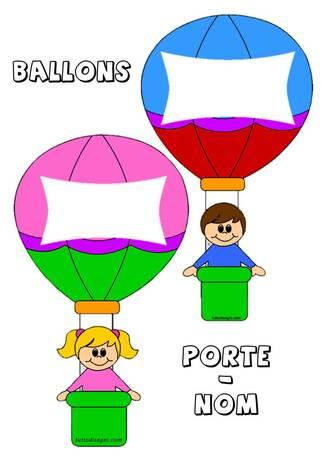 Ballon porte-nom