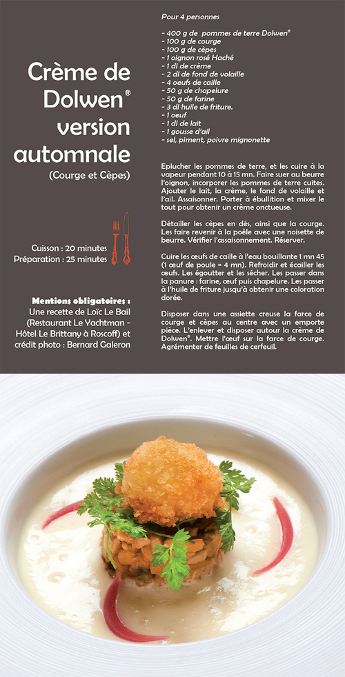 Crème de Dolwen version automnale (Courge et Cèpes)