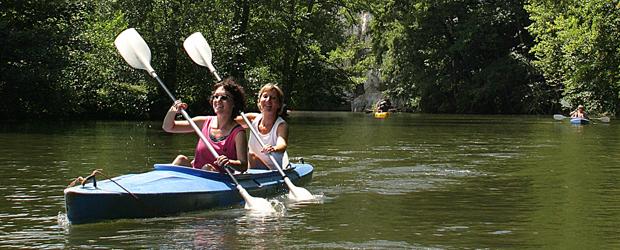 descente Lesse kayak nature