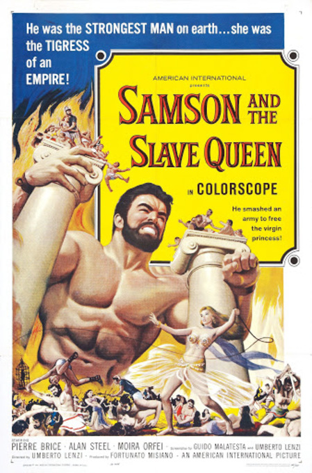 SAMSON AND THE SLAVE QUEEN BOX OFFICE USA 1963