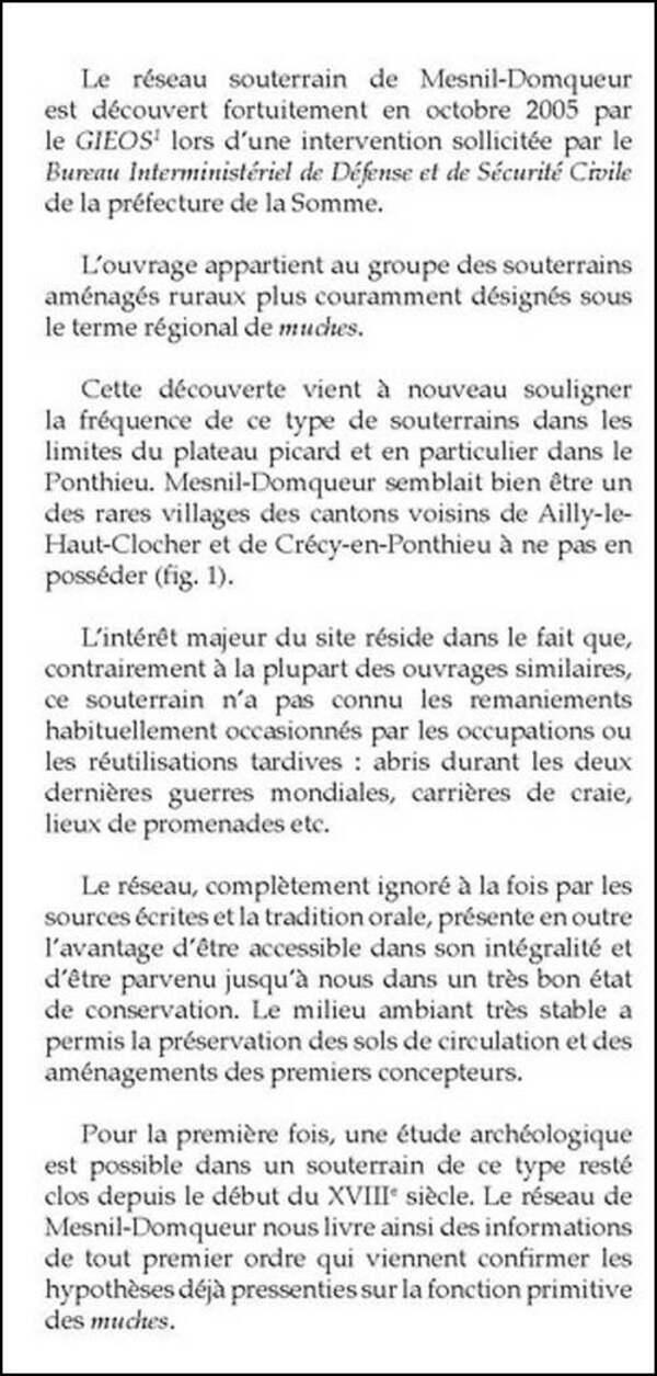 Les muches de Domqueur (Somme)