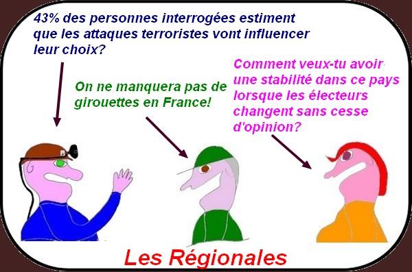 Les attentats influencent le vote aux régionales?