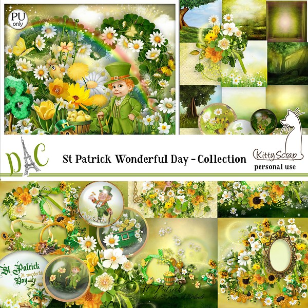 Collection St Patrick a wonderful day de kittyscrap