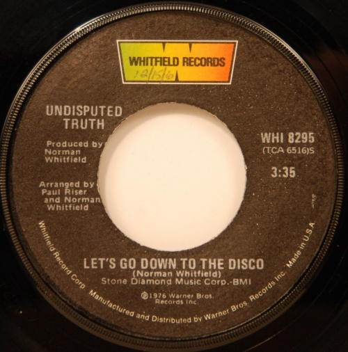 1976 : Single SP Whitfields Records WHI 8295 / WHI 8295 Promo [ US ]