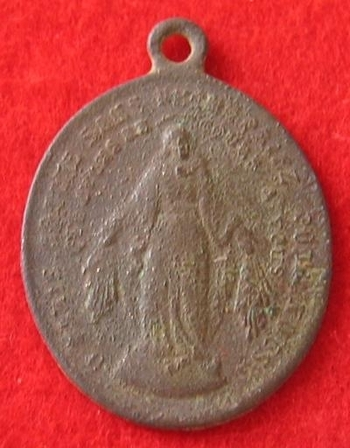 Médaille religieuse en bronze avers