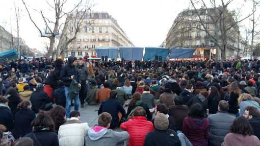 Assemblée Générale à Nuit Debout, place de la République, vendredi 8 avril