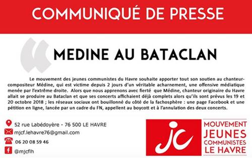 L'Islam et Médine au Bataclan empoisonnent la gauche
