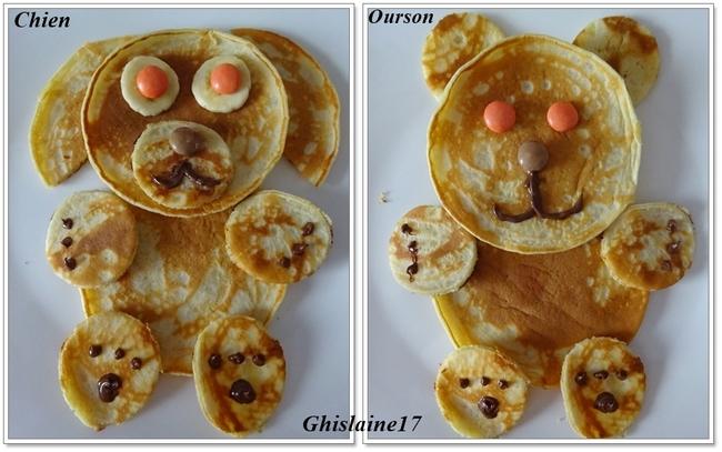 """Pancakes """"animaux""""  2ème"""
