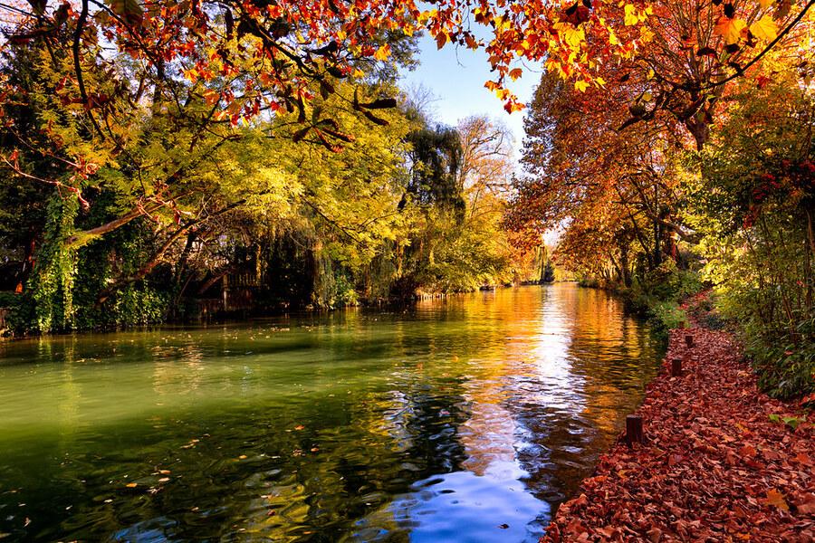 l'automne sur les bords de marne