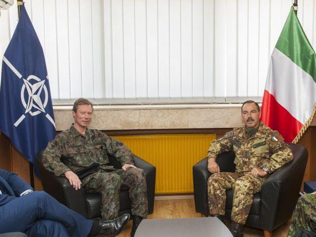 Visite auprès du contingent luxembourgeois déployé au Kosovo
