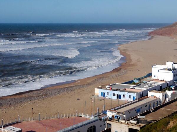 La côte vue depuis l'esplanade au dessus le la falaise