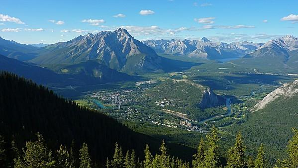Jour 16 Banff vue du Mont Sulphur