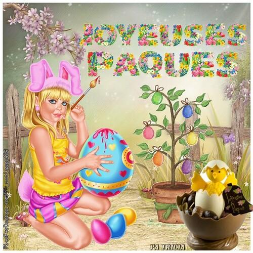 """Défi chez Fée capucine """"Joyeuses Pâques"""""""