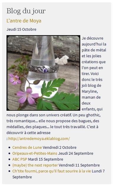 Blog du jour ^^