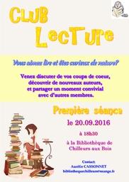 Nouveau!! Club lecture