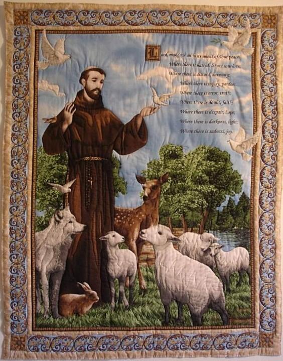 Images pieuses(Saint Francois d'Assise)