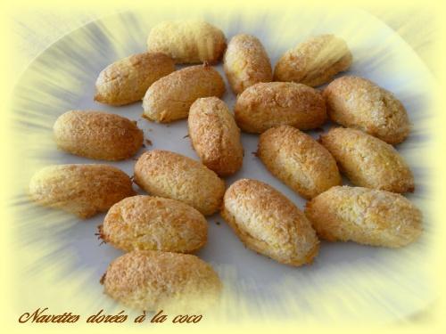 Navettes dorées à la coco