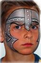 medieval knight face painting: