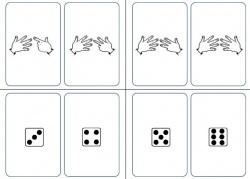 ... : les nombres en chiffres, les doigts des mains, et les dés