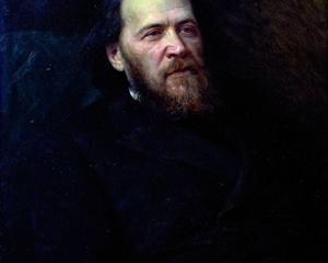 Portrait of the poet Yakov Polonsky  - Ivan Kramskoy