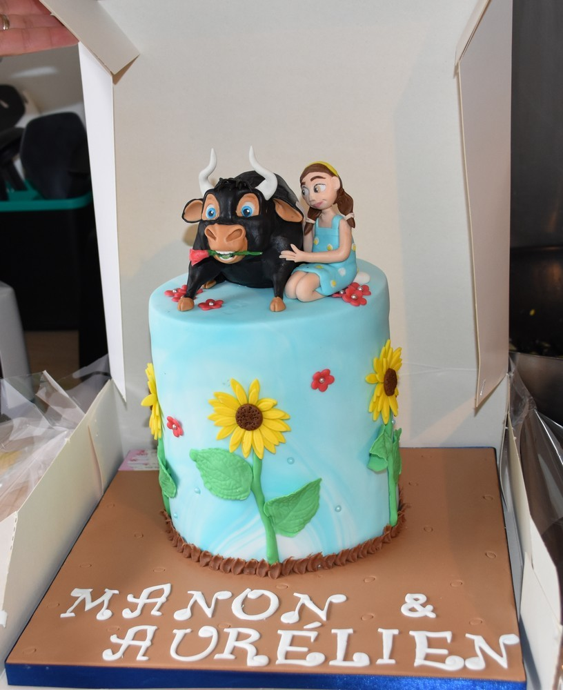 Le taureau d'anniversaire de Manon et Aurélien...